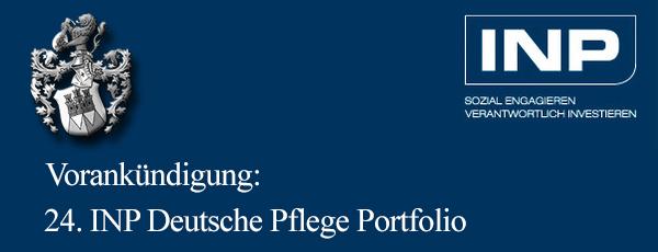 Vertriebsstart 24 INP Deutsche Pflege Portfolio März 2017 geplant Pflegeheimfonds Ott Vermittlung von Kapitalanlagen Immac 2017 Pflegefonds