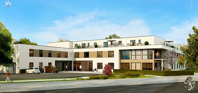 Pflegeimmobilie Schieder Schwalenberg NRW Seniorenwohnhaus am Kurpark Pflegeheim Pflegeappartements