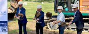 Spatenstich Seniorenzentrum am Kurpark Schieder Schwalenberg Seniorenwohnhaus Bagger Bauarbeiter
