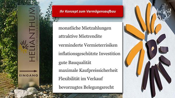 Konzept zum Vermögensaufbau Pflegeimmobilie Steisslingen am Bodensee Helianthum