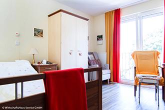 Pflegeappartement Bremen Huchting Bett Zimmer Einrichtung