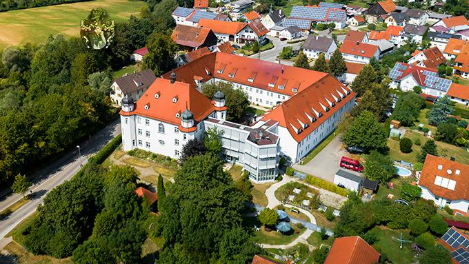 Luftaufnahme Luftbild Schloss Fellheim Bayern Drohne