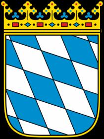 Wappen Bayern Raute blau weiss
