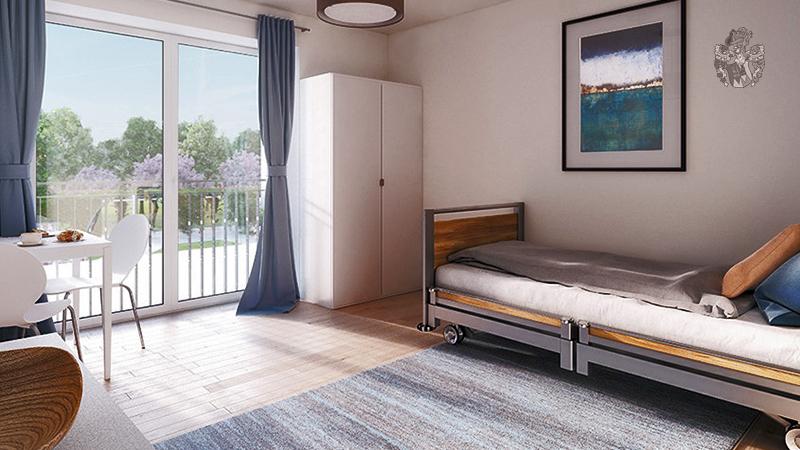 Pflegeimmobilie Coburg Einbett Zimmer Pflegezimmer Appartement