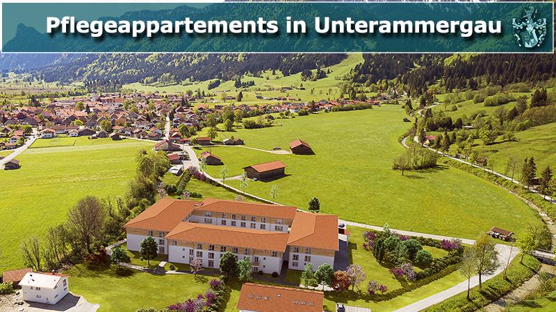 Pflegeappartements Unterammergau Kreis Garmisch-Partenkirchen Vermittlung durch Ott Investment AG Schlüsselfeld