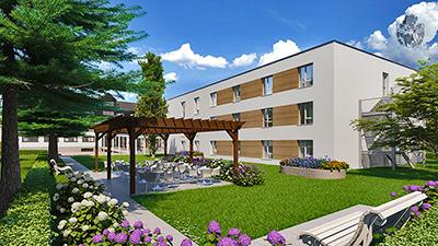 Pflegeimmobilie Kehl am Rhein Uebersicht Neubau Immobilie