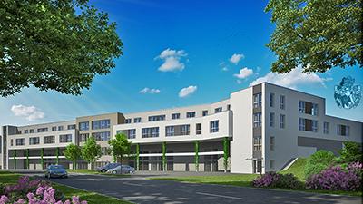 Pflegeimmobilie Prüm Uebersicht Neubau Tiefgarage Parkhaus