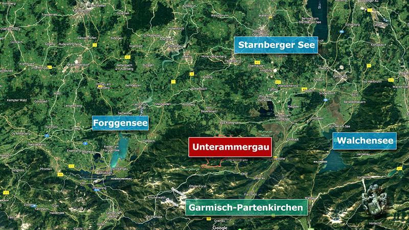 Pflegeimmobilie Unterammergau Bayern Landkarte
