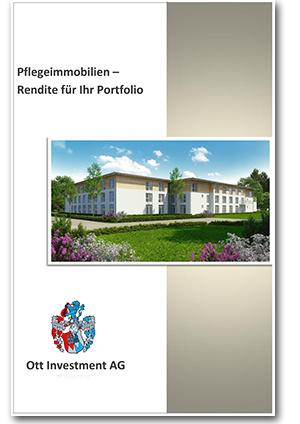 Infobroschüre Pflegeimmobilie Rainer Ott Ott Investment AG Pflege
