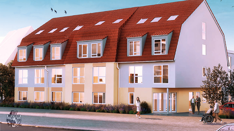 Pflegeimmobilie Altdorf Pflegeimmobilie kaufen Bayern Straßenansicht Bayern investieren