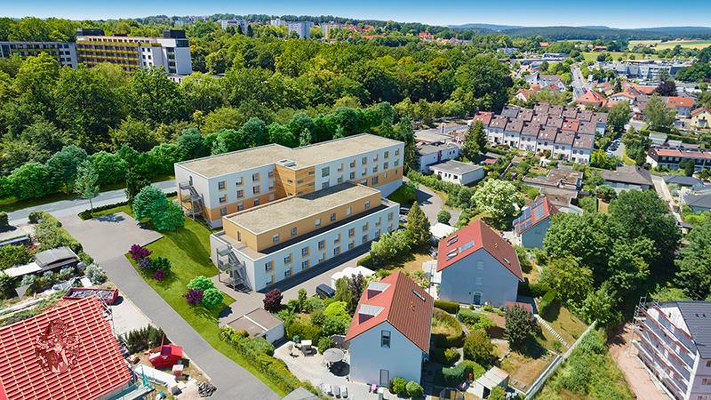 Pflegeimmobilie Bayreuth Luftaufnahme Appartements