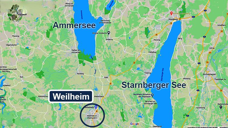 Landkarte Pflegeheim Weilheim Ammersee Starnberger See