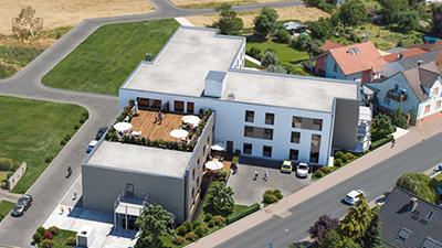 Pflegewohnungen Freigericht Luftbild Vogelperspektive