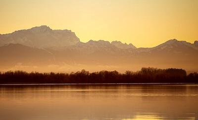 Sonnenuntergang Ammersee Bayern