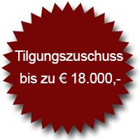 Tilgungszuschuss bis zu 18.000 Euro