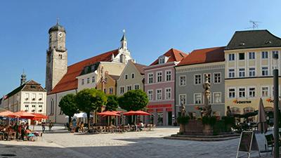 Weilheim in Bayern Marktplatz Zentrum