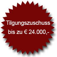 Tilgungszuschuss bis zu 24.000 Euro