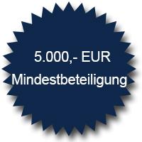 5.000 Euro Mindestbeteiligung
