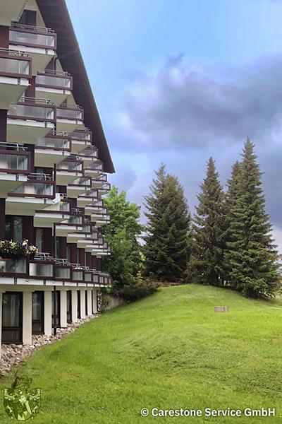 Gartenansicht Pflegeheim Höchenschwand Schwarzwald