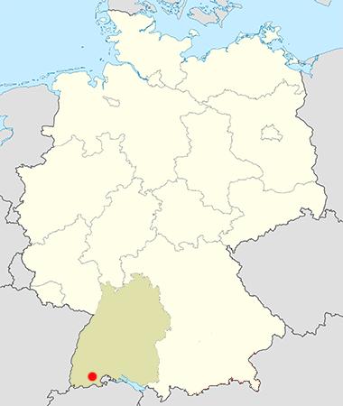 Landkarte Deutschland Schwarzwald Baden Württemberg