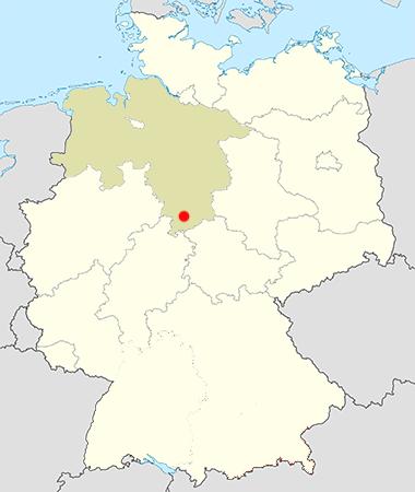Landkarte Deutschland Nörten Hartenberg Niedersachsen